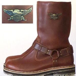Harley Davidson Raised Eagle Harness Boot